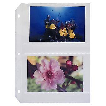 52564, 35mm Ring Binder Photo Storage Pages - 4 x 6, Tradicional claro - carga lateral, 11 1/4 x 8 1/8, 50/BX