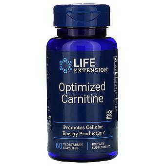 Life Extension, Optimized Carnitine, 60 Vegetarian Capsules