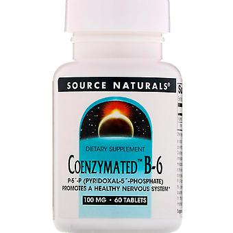Source Naturals, Coenzymated B-6, 100 mg, 60 Tablets