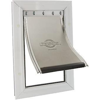 Staywell Heavy Duty Aluminium Hund Door - Hvid - 50x33cm