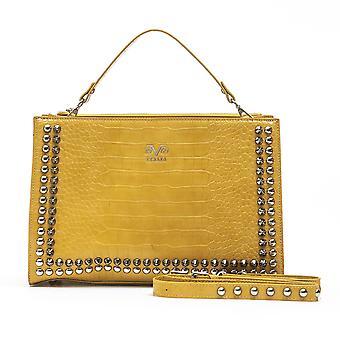 Yellow hue italian handbag - 19v69 italia