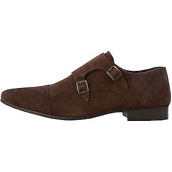 Marca - encontrar. Zapatos de ante para hombre y de gamuza en acabado de cuero de monje doble