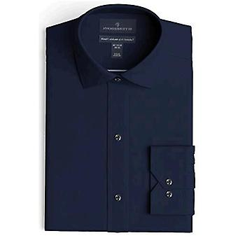 BUTTONED DOWN Men's Tailored Fit Spread-Collar Solid Non-Iron Dress Shirt, Na...