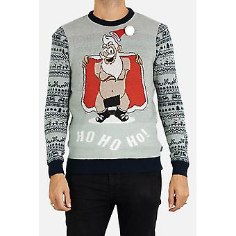 Adjusted-cut round-neck Christmas sweater