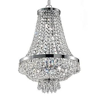 9 Light Crystal Kattokruunu Kromi Viimeistely, G9