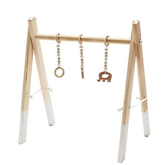 Baby Ring Pull Play Gym - Jouet à cadre en bois Fors Room Decor