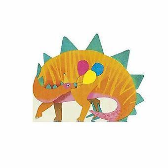 Dinosaure en forme papier Party serviettes x 16 Childrens parti