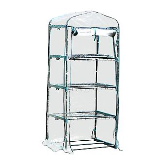 Vegetable / Fruit Greenhouse With 4 Shelves & Strong Reinforced Cover
