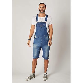 Jesse denim slim fit dungaree shorts - blue denim