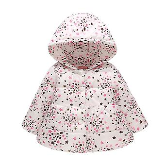 Baby Girls Boys Jackets Clothing Autumn Kids Hooded Coats Winter Toddler Warm Cotton Flower Outerwear