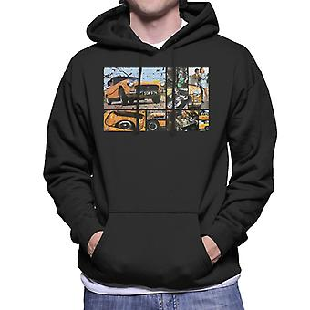 Austin Healey Sprite Mark IV Montage British Motor Heritage Men's Hooded Sweatshirt