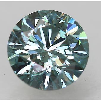 Cert 0.73 Ct Vivid Blue VS2 Runde brillante verbesserte natürliche Diamant 5.73mm 3EX