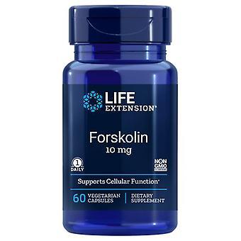 Extensão de vida Forskolin, 10 mgs, 60 Vcaps