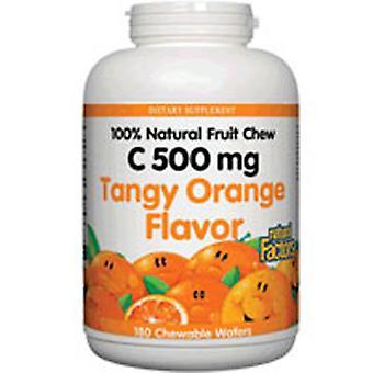 自然要因自然なフルーツチュー、タンギーオレンジ90タブ