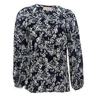 Laurie Felt Women's Top Woven Blouse Lace Blue A301681