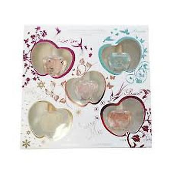Jeanne Arthes Amore Mio Miniature Gift Set 5 Pieces (1 x 7ml Amore Mio EDP 1 x 7ml White Pearl EDP 1 x 7ml Passion EDP 1 x 7ml I Love You EDP 1 x 7ml Forever EDP)