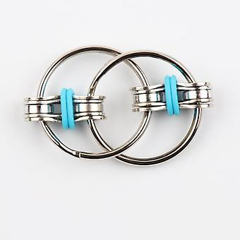Anti Stress Adult Fidget Toys Key Ring Hand Spinner Fidget Bearing Tri-spinner Metal