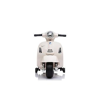 Licensed vespa gts 6v kids electric ride on scooter bike with training wheels