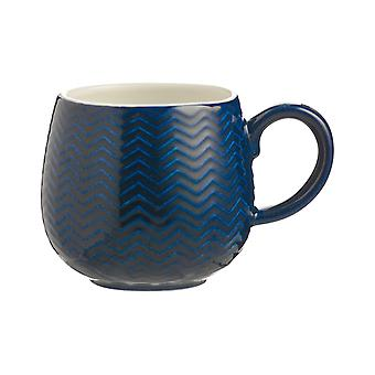 Mason Cash Chevron Mug Navy 2002.143