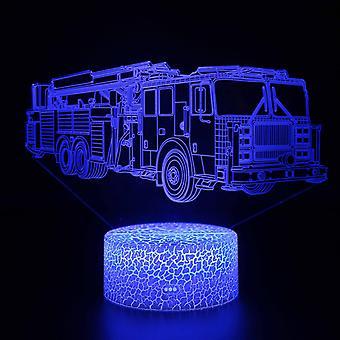 الطفل هدية 3D لمسة ضوء ليلة 7 ألوان التحكم عن بعد - voiture #122