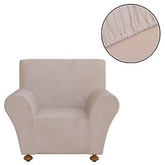 vidaXL Sofahusse Stretchhusse أريكة غطاء البيج البوليستر جيرسي