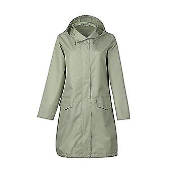 Breathable Ladies Long Portable Water Repellent Rain Coat Veste