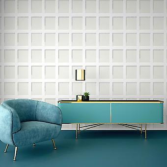 Heritage Wood Panel Wallpaper White Debona 6740