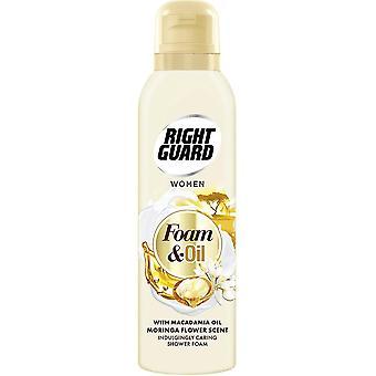 Right Guard 3 X Right Guard Shower Foam & Oil - Macadamia Oil