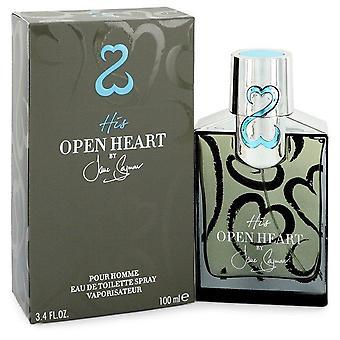 His Open Heart Eau De Toilette Spray By Jane Seymour 3.4 oz Eau De Toilette Spray