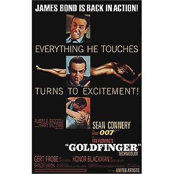 James Bond Goldfinger - Spænding (Sean Connery) Film plakat 91,5 x 61 cm