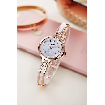 ステンレススチール製ブレスレット腕時計、レディースクォーツ腕時計