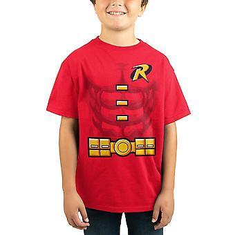 Vêtements de bandes dessinées de dc de chemise de merle de jeunes garçons