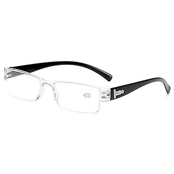 Square Tr90 Reading Glasses Rimless, Ultra-light Frameless  Spectacles1.5 2.0