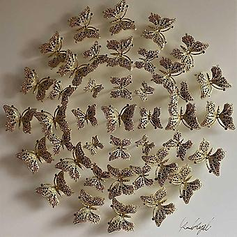Circle Of Butterflies Wall Art White