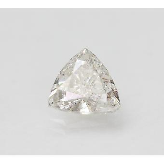 Certified 1.06 Carat F SI1 Trilliant Enhanced Natural Loose Diamond 7.34x4.32mm