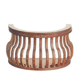 Dolls House Balcony Round S Curve Laser Cut Wooden Gallery 1:12 Scale