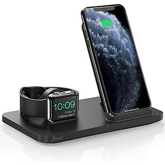 Seneo New Version Dual 2 in 1 Wireless Charger, Apple Watch Charging Stand