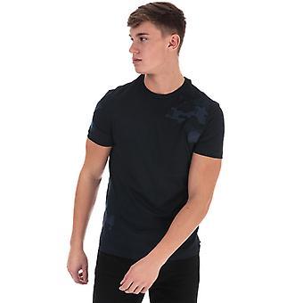 Men's Armani Tonal Camo T-Shirt in Blue