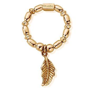 ChloBo GRMR1724 женщины-апос;s Золотой тон Мини Райс Перо кольцо (маленький)