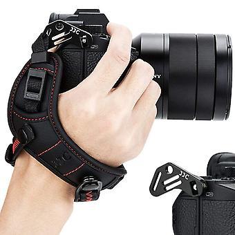 Jjc tükör nélküli kamera kézszíj csuklópánt kompatibilis nikon z7 z6 sony a7iii a7ii a7riii a7rii