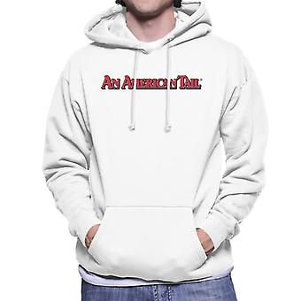 An American Tail Classic Red Text Logo Men's Hooded Sweatshirt