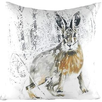 Evans Lichfield Hare Christmas Cushion Cover