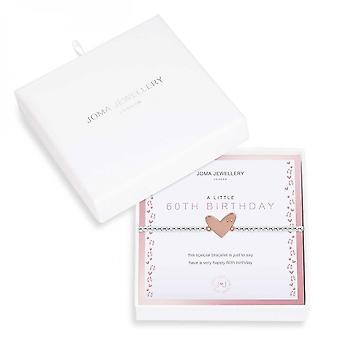 Joma Jewellery Beautifully Boxed A Littles 60Th Birthday Silver 17.5cm Stretch Bracelet 3969