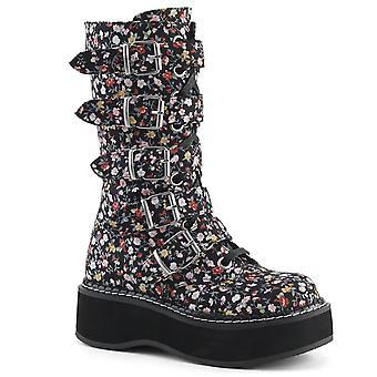 Demonia Kvinder's Boots EMILY-340 Blomster stof