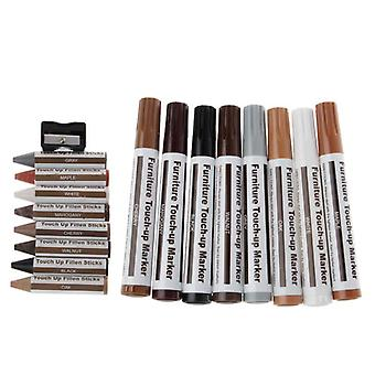 Furniture Repair Touch Up Markers & Filler Sticks Kit