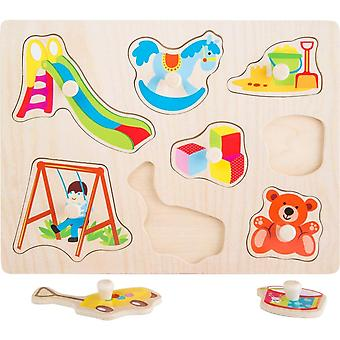 Small Foot Wooden Peg Puzzle.  The Park.  Age 2+