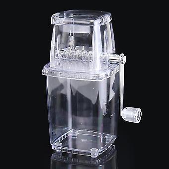 Tragbare manuelle Eis Rasierer Block Rasiermaschine Crusher Schnee Eis Kegel Maker Transparent