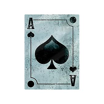 Grindstore Ace Of Spades Glass Chopping Board