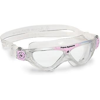 Aqua Sphere Vista Junior Swim Gözlük - Clear Lens - Clear/Pink Glitter