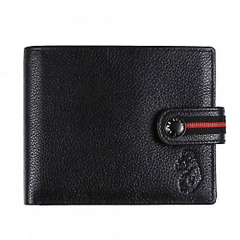 Luke 1977 Kylo musta nahkainen kaksiosainen lompakko kolikkotaskulla